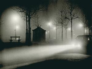 Brassaï, Fog, avenue de l'Observatoire, 1934, Gelatin silver print.