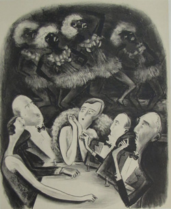 Adolf Dehn (American, 1895-1968). We Nordics, 1931. Lithograph. 13-3/4 x 11-1/4 inches. Gift of Andrew and Andrea Lowe.