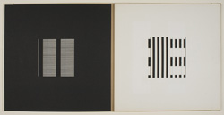 Image of artist book by Dieter Roth entitled Book A (25 Sheets), made in 1964. Gift of Arline Baum.