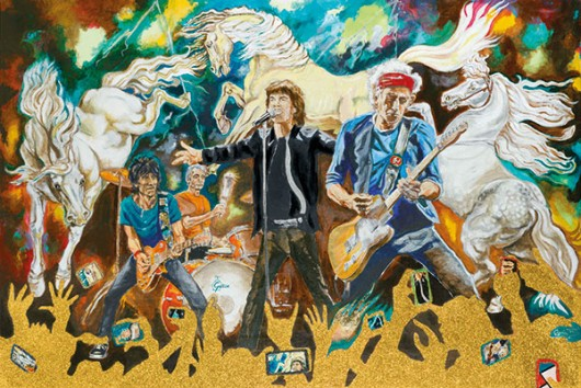 Ronnie Wood, Electric Horses, 2013, canvas.
