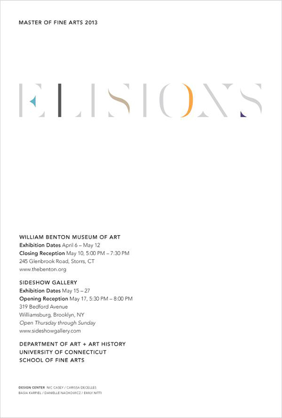 Invitation to the Elisions exhibition