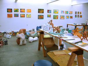 Garth Evans' studio view, 2012.