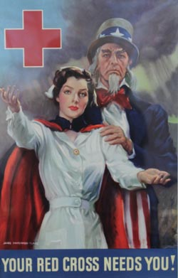 James Montgomery Flagg, Your Red Cross Needs You, Lithographic poster