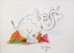 Horton from the collection of Animazing Gallery. ™ & © Dr. Seuss Enterprises, L.P.
