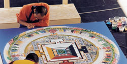 Monks from Namgyal Monestary creating a Mandala