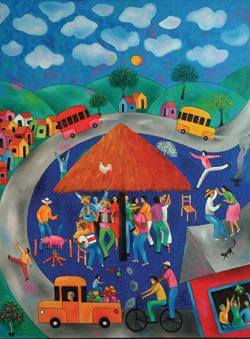 Jos Morillo, Viva el Merengue, 2003. Oil on canvas. 39.4' x 29.4' Coleccin Juan Julio Bodden, Santo Domingo