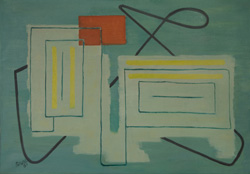 Otto Ritschl (German, 1885-1976), Abstraction, 1951, oil on canvas. Gift of Jean Henley.