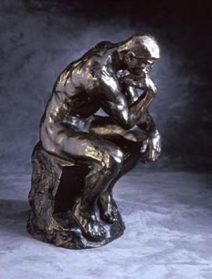 Auguste Rodin, The Thinker, modeled in 1880, reduced in 1903. Cast number and date of cast unknown. Bronze. Iris and B. Gerald Cantor Foundation; promised gift to the North Carolina Museum of Art