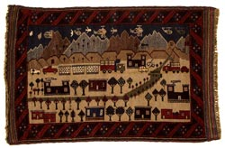 War Carpet, Afghanistan, weaving, post-1979, Private Collection