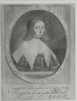 Anna-Maria van Schurman, German-Dutch, 1607-1678. Self-Portrait Stipple and line engraving with platetone, 1640. Gift of the Members' Fund and the Deaccession Fund purchased from Paul McCarron, NYC