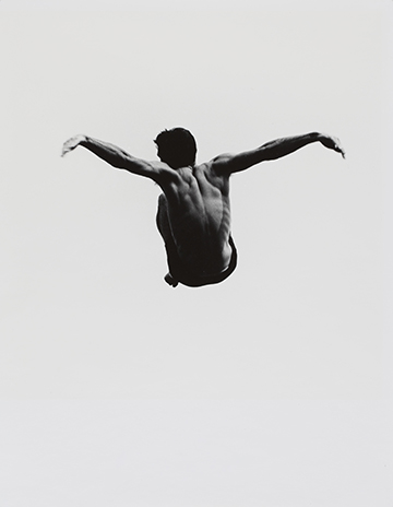 "Aaron Siskin (American, 1903-1991). From the ""Pleasure of Levitation"" Series, c. 1954. Silver print. Gift of Samuel Charters and Ann Charters."