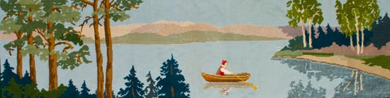 A Lake in the Province of Dalarna, wool tapestry