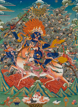 Tibetan Thangka, unknown artist.