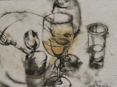"Image Detail of work by Allison Paul ""Supper Napkin"""