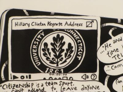 "Image Detail of work by Cora Lynn Deibler ""Hillary clinton: Politician"", 2014"