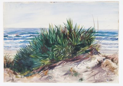 Sand dune and beach grass, 1930. Watercolor by Reginald Marsh