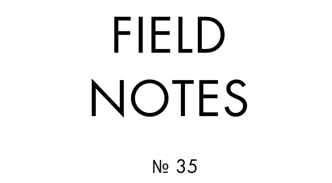 """Field Notes No. 35 (2020). Book, 11"""" x 8.5""""."""