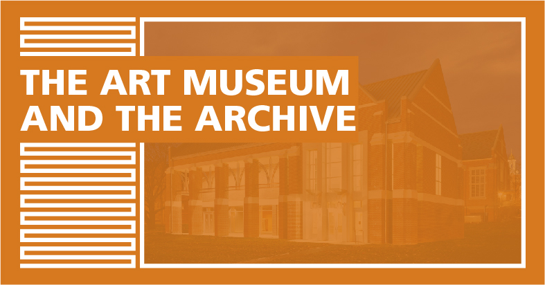 "Cover Image for ""The Art Museum and the Archive"""