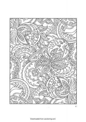 Paisley zen coloring page