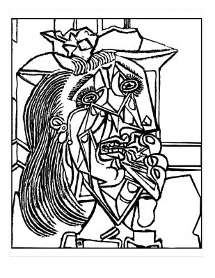Pablo Picasso, Weeping Woman Masterpieces coloring pages
