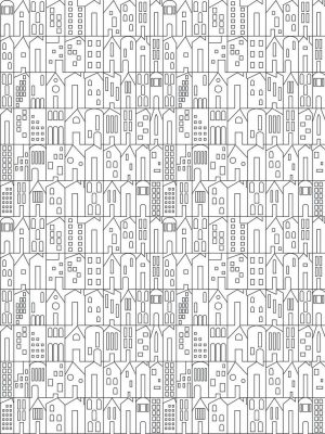 Building view wallpaper coloring page