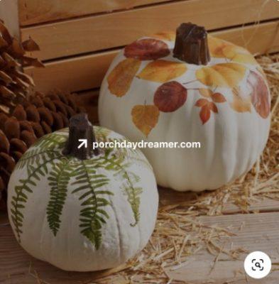 Pumpkin decorating example 4
