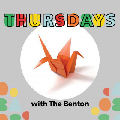 Thursdays with The Benton with origami crane