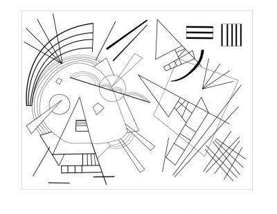 """Vassily Kandinsky """"Black Violet"""" Masterpieces coloring pages"""