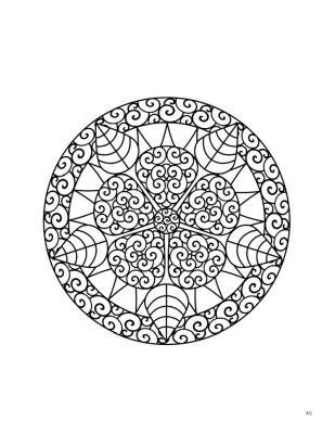Zen circlular coloring page