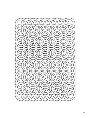 Interlocking circular coloring page