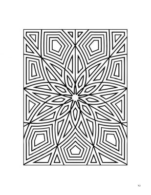 Star rectangle coloring page