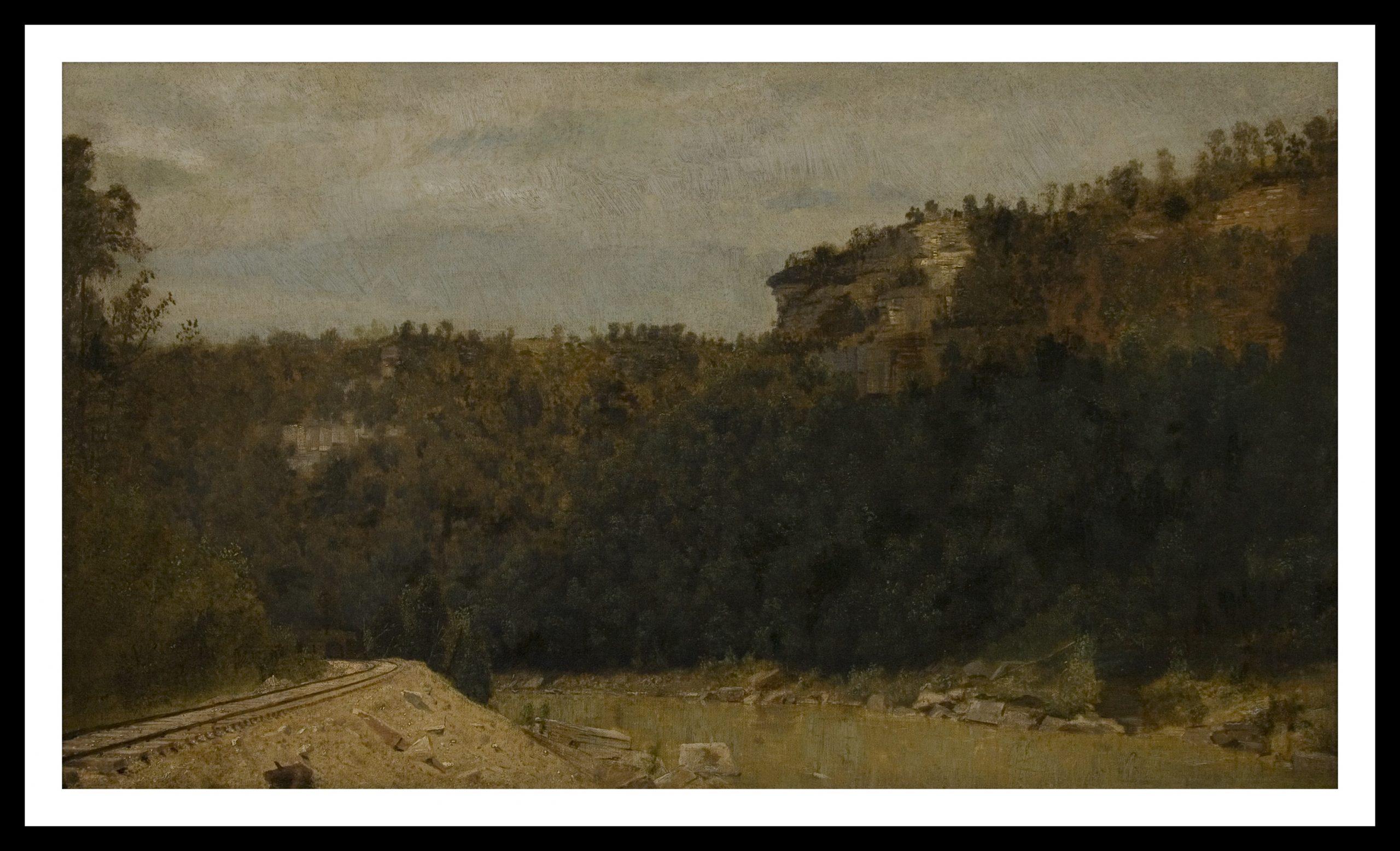 Thomas Pollock Anshutz, Untitled [Mountain Landscape with Railroad Tracks] (c. 1885-1890)