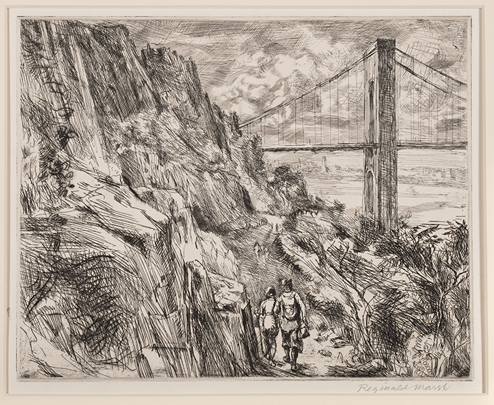 Reginald Marsh, George Washington Bridge (Palisades)