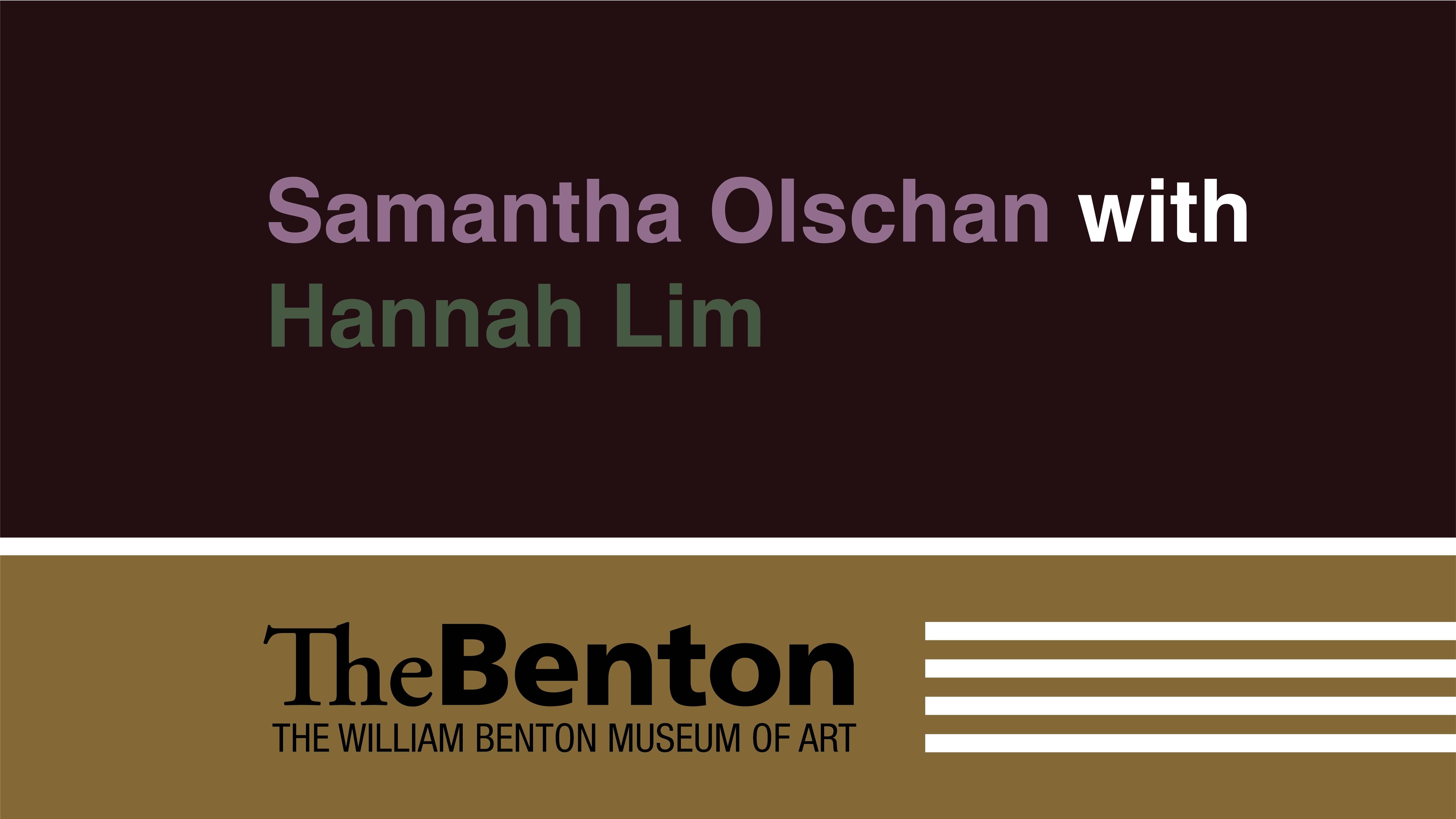 Samantha Olschan with Hannah Lim