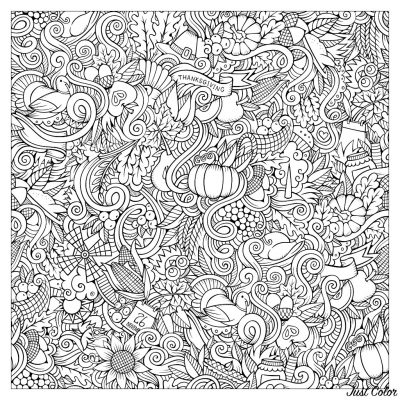 Coloring page, thanksgiving
