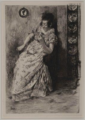 A Divination in Tea Leaves by Alfred Laurens Brennan