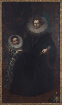 Noblewoman and Child by Alonso Sanchez Coello