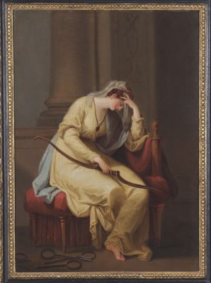 Penelope weeping over the bow of Ulysses, by Angelica Kauffmann