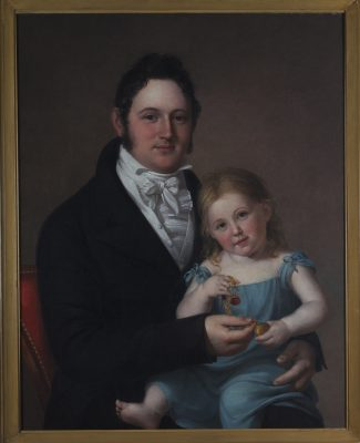 Captain Paul Ambrose Oliver and His Daughter Mary by Rembrandt Peale