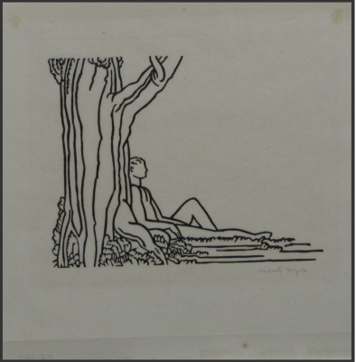 proof impression from LEAVES OF GRASS, Folio III by Valenti Angelo