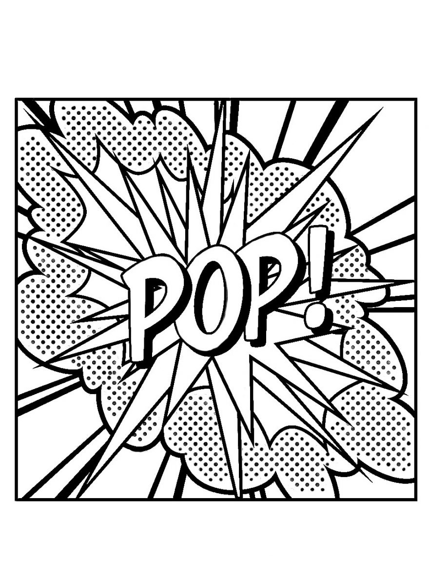 Lichtenstein Pop coloring page
