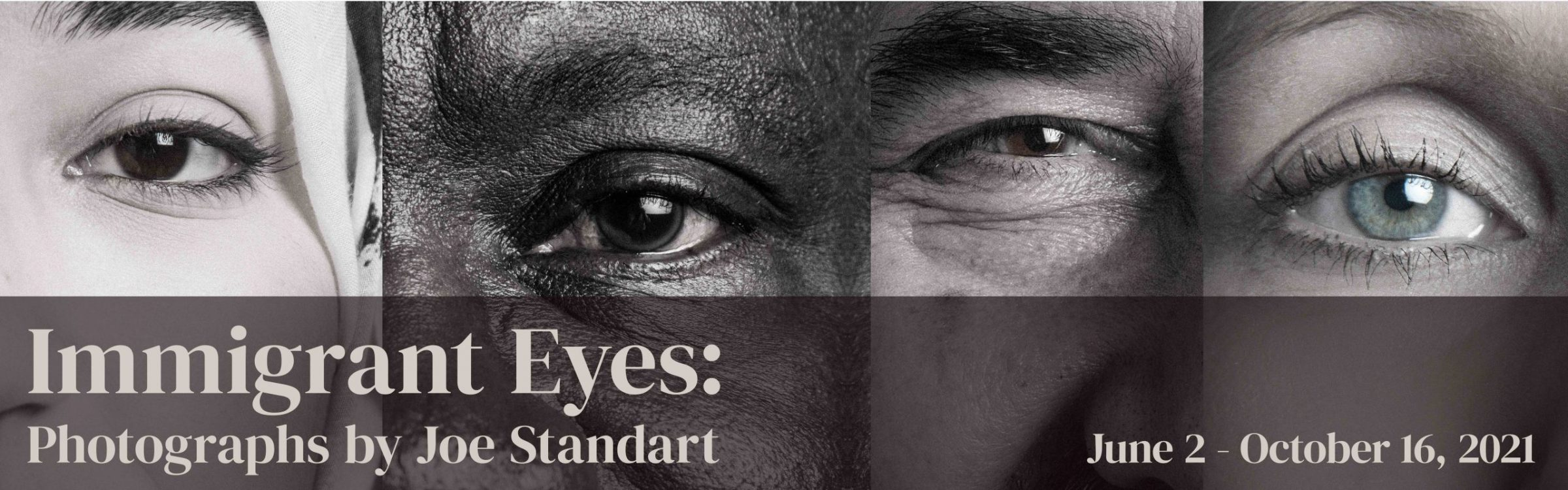 Immigrant Eyes Exhibition banner